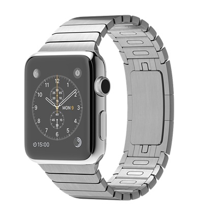 Apple Watch 42mm with stainless steel link bracelet