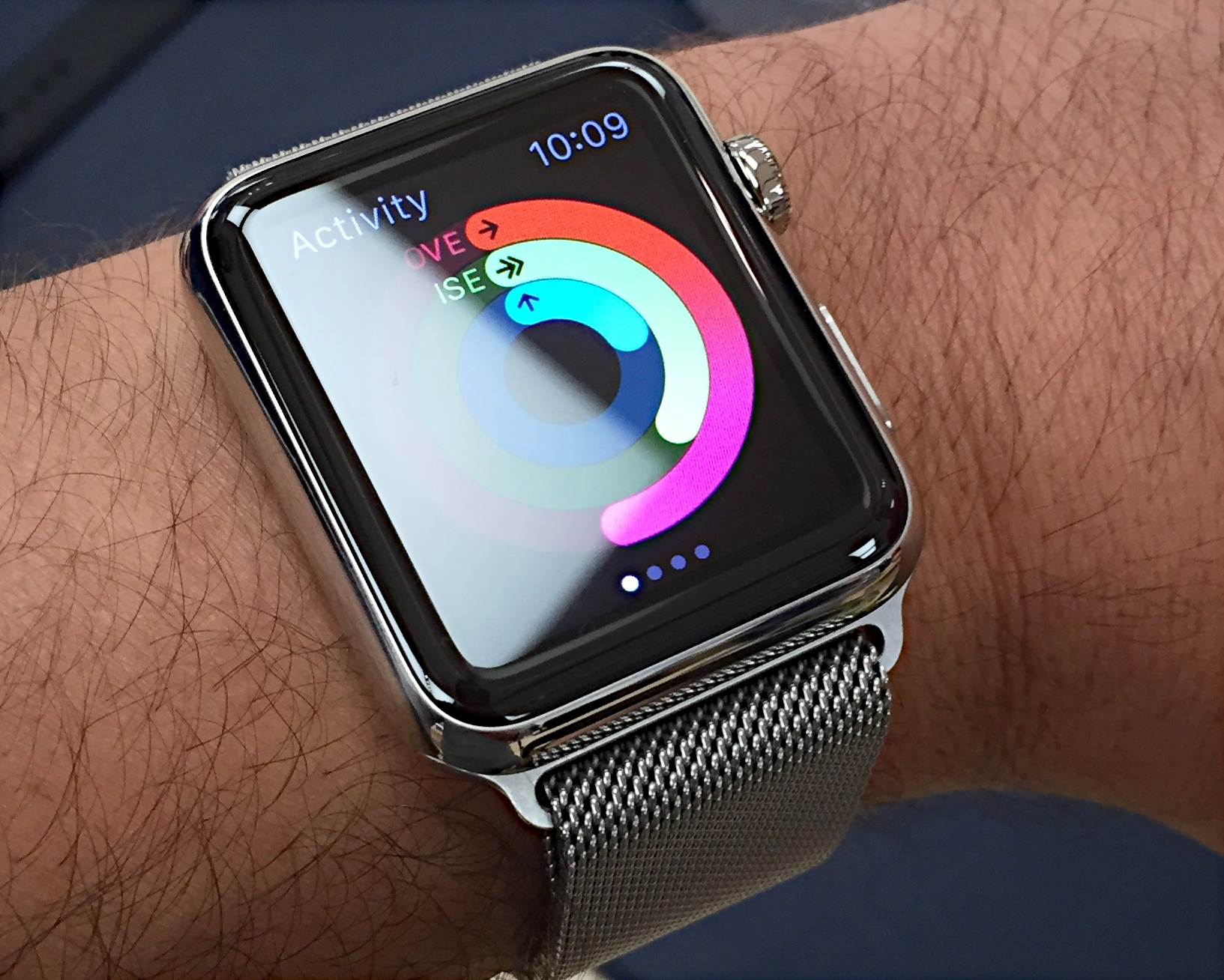 Apple Watch with Milanese loop bracelet (2015)