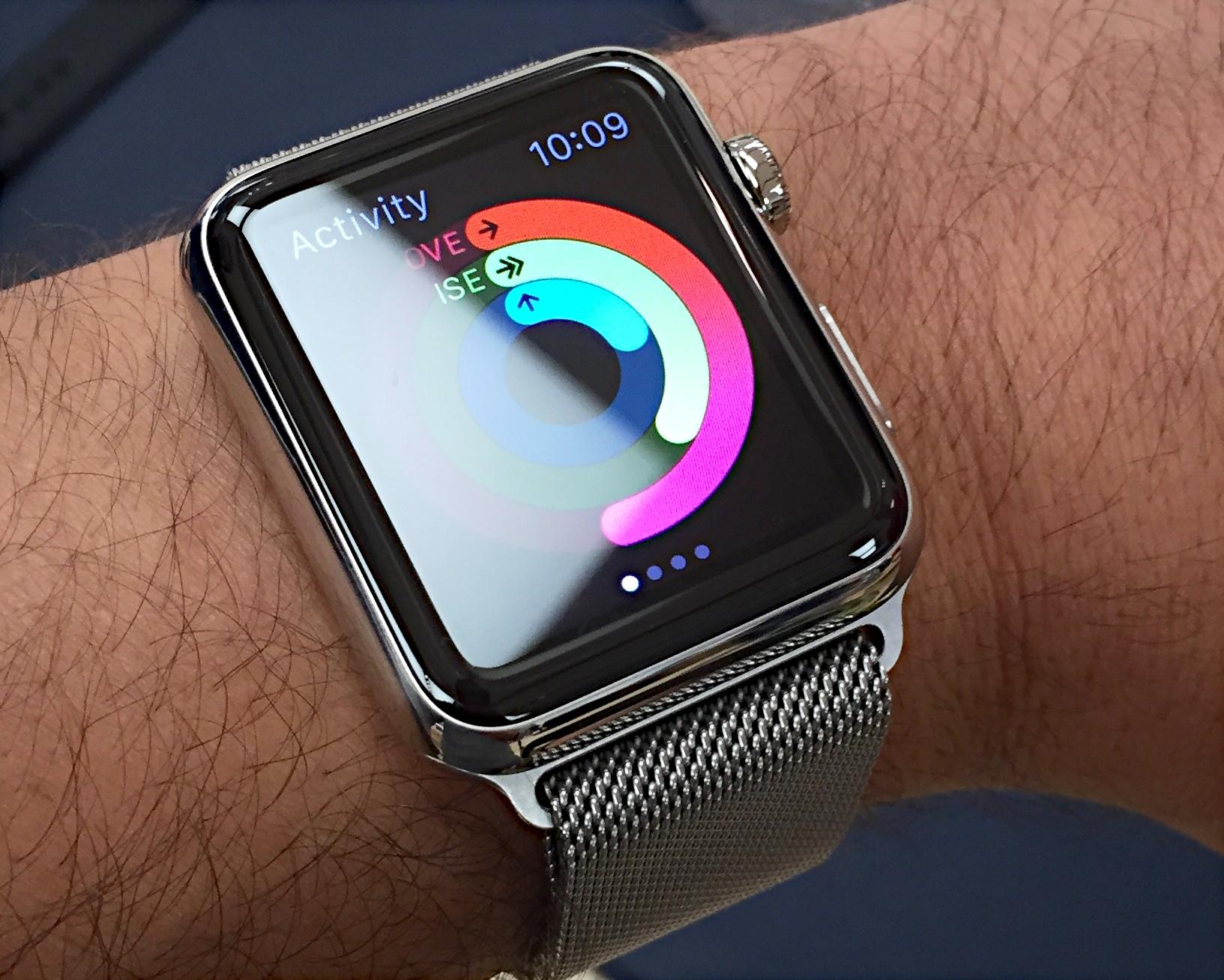 Apple Watch with Milanese loop bracelet (2015)